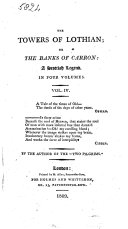 """The Towers of Lothian; Or, The Banks of Carron: a Scottish Legend. By the Author of the """"Two Pilgrims."""""""