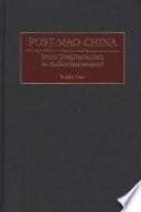 Post-Mao China