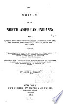 The Origin of the North American Indians