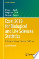 Excel 2019 for Biological and Life Sciences Statistics