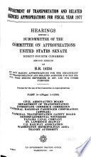 Department of Transportation and Related Agencies Appropriations for Fiscal Year 1977