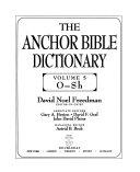 The Anchor Bible Dictionary: O-Sh