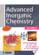 Advanced Inorganic Chemistry   Volume II