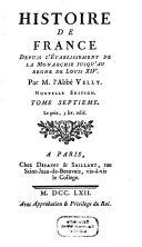 Histoire de France Depuis L'Etablissement De La Monarchie Jusqu'au Regne De Louis XIV