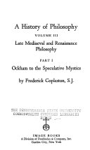 A History of Philosophy: Late medieval & Renaissance philosophy
