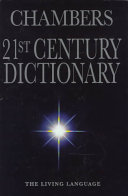 Chambers 21st Century Dictionary Book