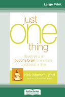 Just One Thing Book
