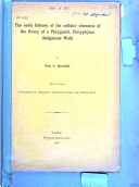 The Early History of the Cellular Elements of the Ovary of a Phryganid  Platyphylax Designatus Walk Book