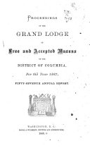 Pdf Proceedings of the Grand Lodge of Free and Accepted Masons of the District of Columbia