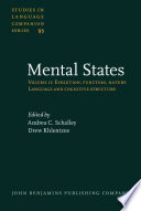 Mental States: Language and cognitive structure