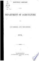 Monthly Reports of the Department of Agriculture Book
