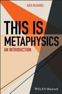 This Is Metaphysics Pdf/ePub eBook