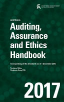 Cover of Auditing, Assurance and Ethics Handbook 2017 Australia