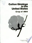 Cotton Ginnings in the United States