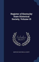 Register Of Kentucky State Historical Society