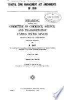 Coastal Zone Management Act Amendments of 1980