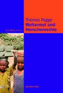 Weltarmut und Menschenrechte: Kosmopolitische Verantwortung und Reformen