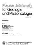 Neues Jahrbuch f  r Geologie und Pal  ontologie