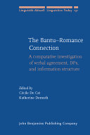 The Bantu-Romance Connection