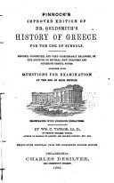 Pinnock s Improved Edition of Dr  Goldsmith s History of Greece for the Use of Schools
