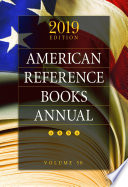 American Reference Books Annual 2019 Edition Book