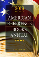 American Reference Books Annual: 2019 Edition