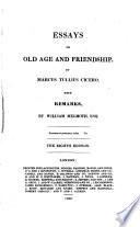 Essays on old age and friendship