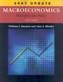 Macroeconomics  Principles and Policy  2007 Update