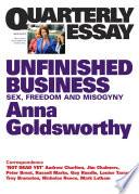Quarterly Essay 50 Unfinished Business