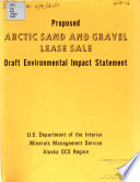 Proposed Outer Continental Shelf Arctic Sand and Gravel Lease Sale