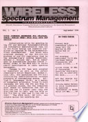 Wireless Spectrum Management