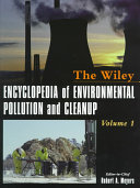Encyclopedia Of Environmental Pollution And Cleanup Book PDF