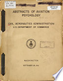 Abstracts Of Aviation Psychology