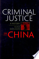 Criminal Justice in China Book