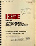 I35E Draft Environmental Impact Statement from TH110  Dakota County  to I 94 Near Downtown St  Paul