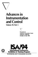 Advances In Instrumentation And Control Book PDF