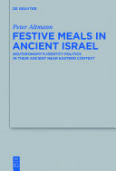 Festive Meals in Ancient Israel