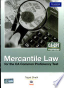 Mercantile Law For The Ca Common Proficiency Test