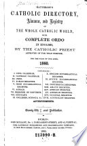 Battersby's Catholic Directory, Almanac, and Registry of the Whole Catholic World