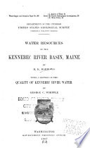 Water Resources of the Kennebec River Basin  Maine