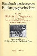 Handbuch der deutschen Bildungsgeschichte