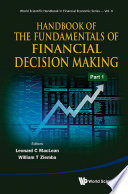 Handbook of the Fundamentals of Financial Decision Making Book