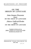 on the origin of language jean jacques rousseau essay on the on the origin of language jean jacques rousseau essay on the origin of