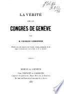 La vérité sur le congrès de Genève