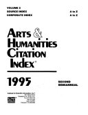 Arts   Humanities Citation Index Book