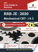 Rrb Junior Engineer Je Mechanical Me 2020 Cbt 1 2 20 Mock Test Latest Edition Practice Kit