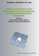 Influence of Socio-Economic Environment on the Development of Small and Medium-Sized Enterprises
