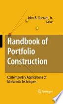 Handbook of Portfolio Construction Book