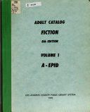 Pdf Adult Catalog: Fiction