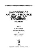 Handbook of Natural Resource and Energy